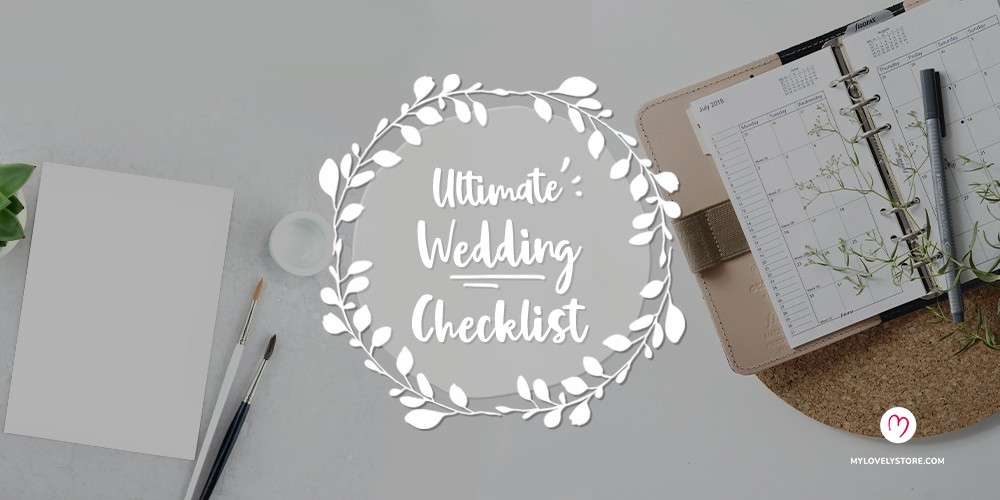 Get Your Wedding Organized using this handy wedding checklist