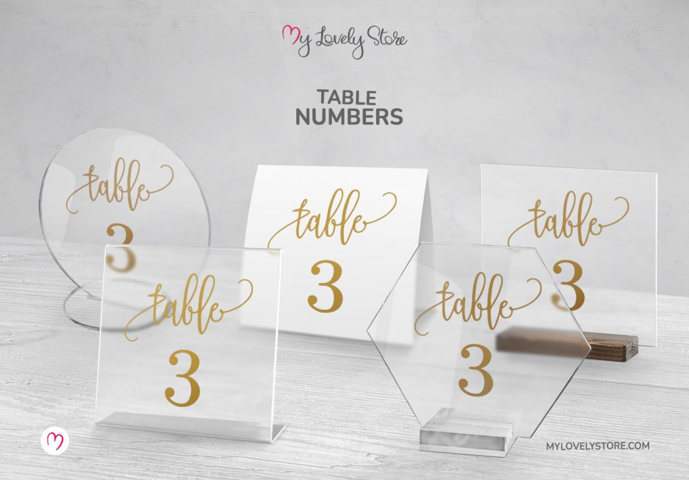 Unique Table Cards Variations