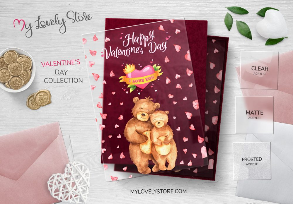 Cute Bear Couple Unique Valentines Day Cards