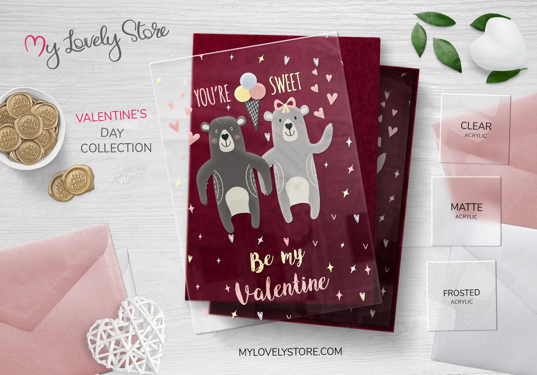 Happy Bear Couple Unique Valentines Day Cards