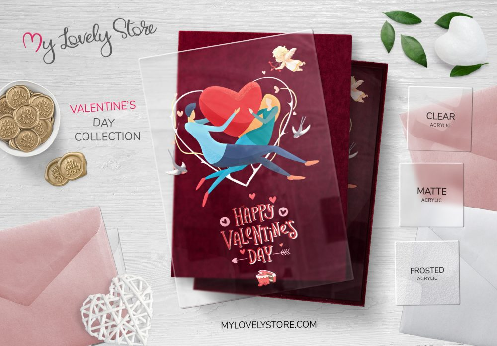 Love is in the Air Transparent Valentine's Day Card