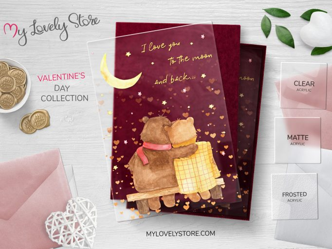 Lovely Bear Couple Transparent Valentine's Day Card