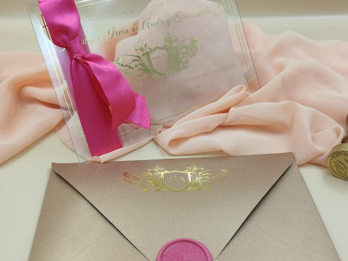 Luxury Boxed Art Deco Clear Wedding Invitation Suite, Transparent, Gatsby, Handmade, My Lovely Store, PHT006