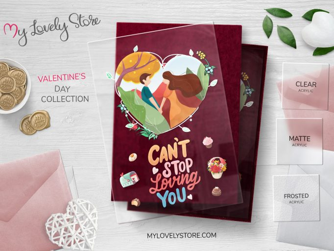 Can't Stop Loving You Acrylic Valentine's Day Cards